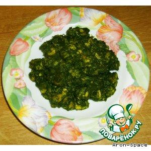 """Рецепт Chicken Sagwala - индийское ресторанное блюдо """"Курочка в шпинате"""""""