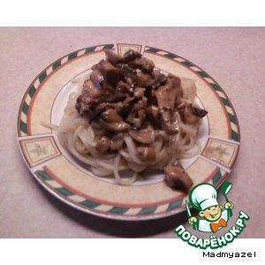 Рецепт Курица с грибами и пастой Tetrazzini от Джейми Оливера
