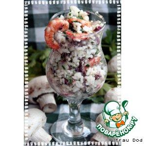 Рецепт Салат рисовый с креветками