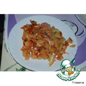 Рецепт Картошка с тем, что было в холодильнике