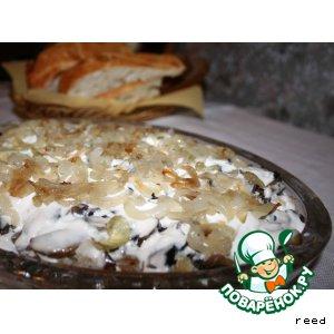 Рецепт Салат с рыбой и грибами