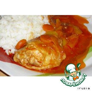 Рецепт Курица на овощной подушке