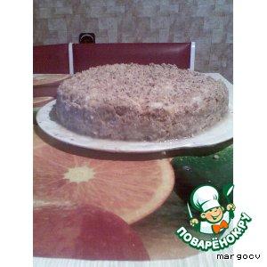 Рецепт Торт бисквитный с яблоками и безе