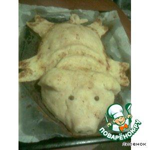 Рецепт Имбирная курочка в картофельном поросенке
