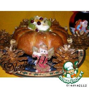 """Рецепт Традиционный французский рождественский кекс """"Саварен"""""""