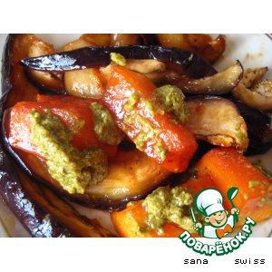 Рецепт Тыква с баклажаном в пряном маринаде