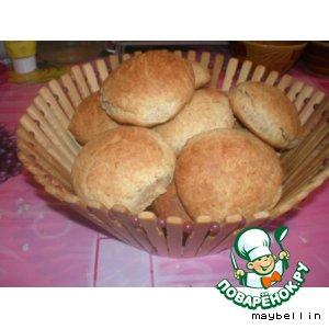 Рецепт Детские отрубные булочки без яиц и дрожжей