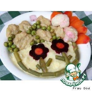 """Рецепт """"Морские"""" тефтели с овощами"""