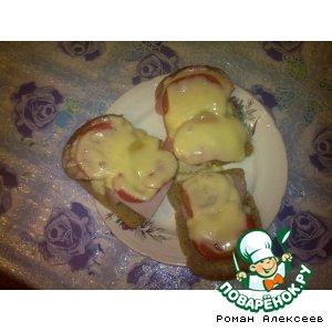 """Рецепт Бутерброды """"Само то с похмелья"""""""