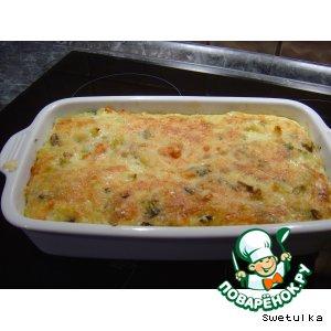 Рецепт Запеканка из лапши с брокколи