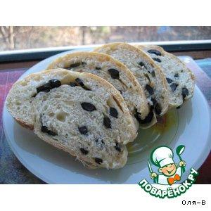 Рецепт Оливковый хлеб-батон