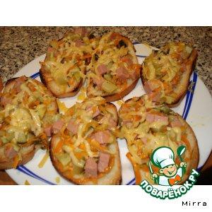 Рецепт Горячие бутерброды с кабачками
