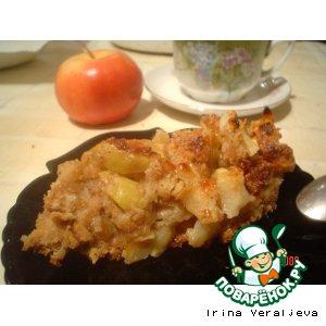 Рецепт Запеканка яблочная с печеньем