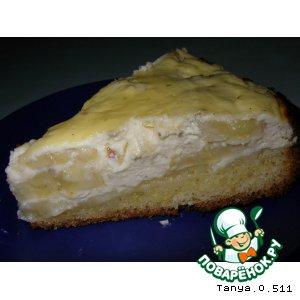 Рецепт Творожный пирог с бананами