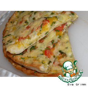 Рецепт Овощная пицца с тыквой