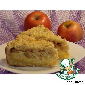 Рецепт Творожный пирог с яблоками и кешью