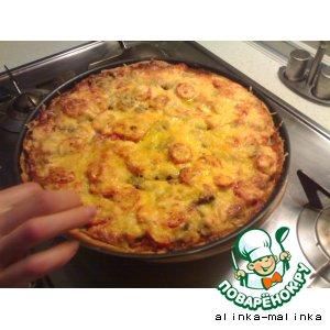 """Рецепт Пицца из слоеного теста """"Вкусняшка"""""""