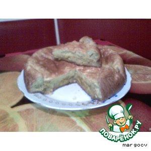 Рецепт Пирог с тушеной капустой