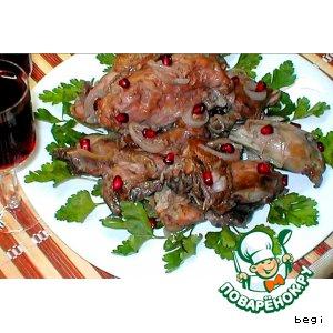 Рецепт Курица в гранатовом соусе