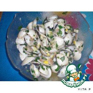 Рецепт Белые моллюски с лимоном - ameijoas
