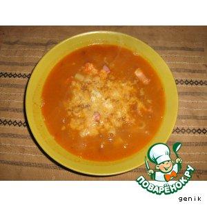 Рецепт Суп из чечевицы с пастой
