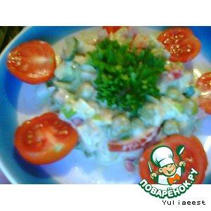 Рецепт Салат с копчeной курицей и авокадо