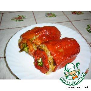 Рецепт Перец, фаршированный рисом и овощами