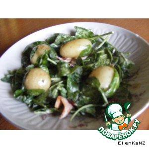 Рецепт Теплый салат из шпината и молодого картофеля