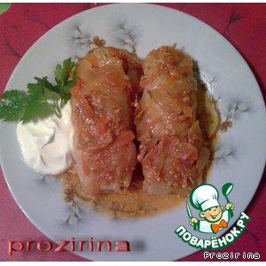 Рецепт Голубцы в томатно-сметанном соусе