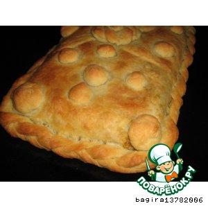 Рецепт Пирог с печенью и гречневой кашей