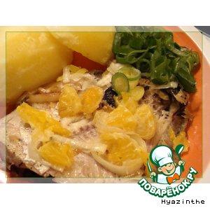 Рецепт Камбала, жаренная с апельсинами
