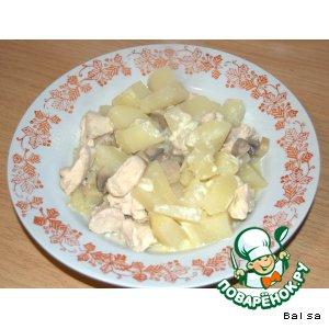 Рецепт Картошка с курицей и грибами