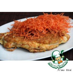 Рецепт Куриные шницели с морковной корочкой