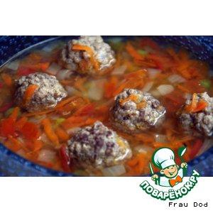 Рецепт Алфавитный суп с тефтельками