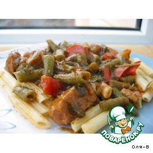 Рецепт Мясной соус с зеленой фасолью