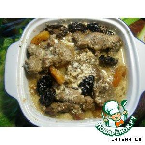 Рецепт Свинина праздничная с курагой и черносливом