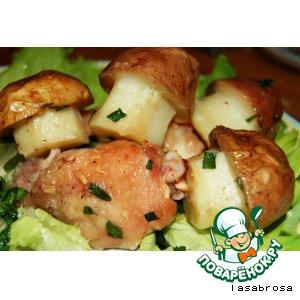 Рецепт Грибочки  из картофеля на полянке