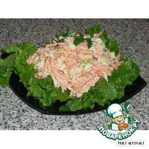 Рецепт Салат из моркови с хреном