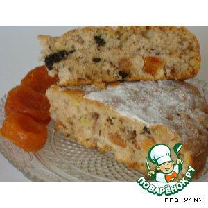 Рецепт Постный пирог с сухофруктами