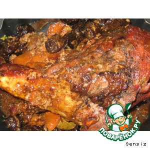 Рецепт Печеная баранина с черносливом