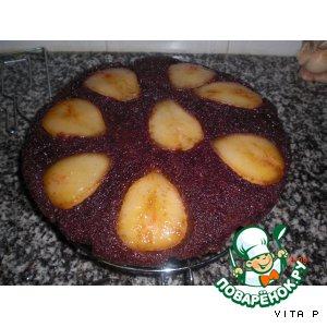 Рецепт Шоколадный пирог с грушей