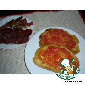 Рецепт Pan con tomate - хлеб с помидорами