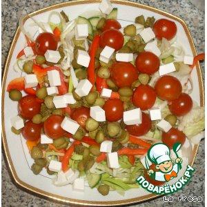 Овощной салат с фетаксой домашний рецепт приготовления с фотографиями