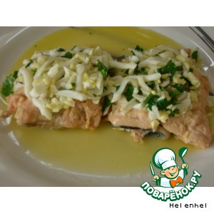 Рецепт Горбуша под соусом