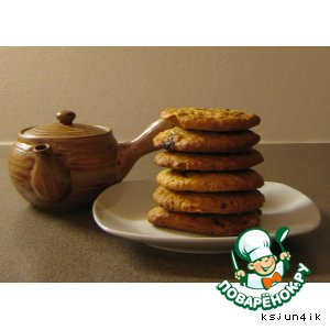 """Рецепт """"Песочное печенье с геркулесовыми хлопьями и Twix"""""""