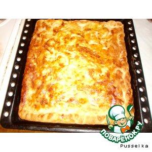 пирог с картошкой и фаршем открытый