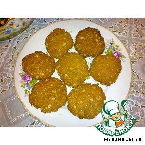 Рецепт Печенье с арахисовым маслом и овсяными хлопьями