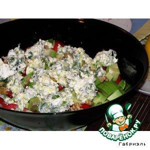 Салат из авокадо с сыром кулинарный