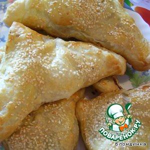 Рецепт Слоеные пирожки с грушей и шпинатом