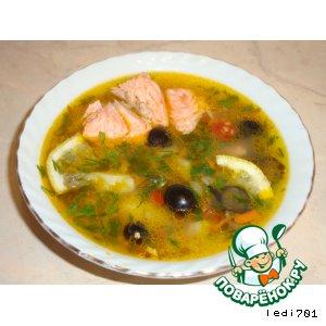 Рецепт Овощной суп из форели